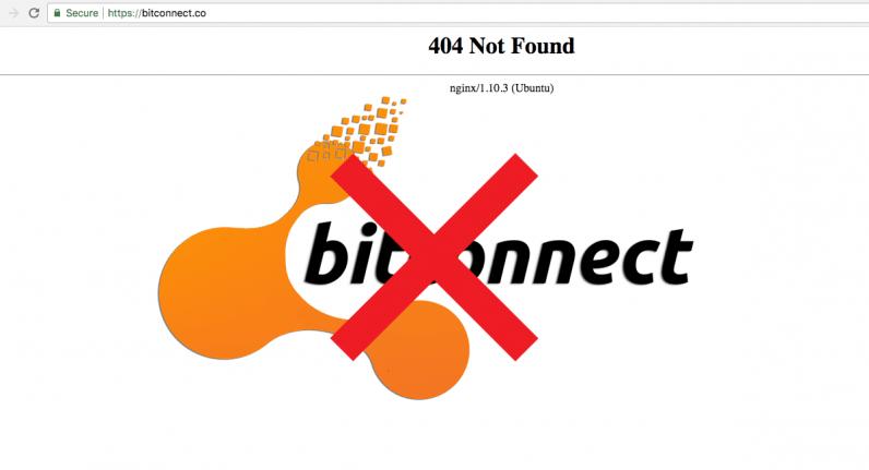 Bitconnect et son service de lending et d'exchange ferme définitivement ses portes
